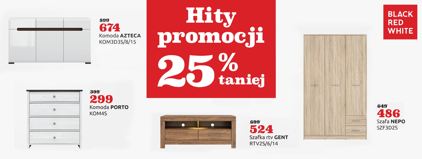 Black Red White 25% taniej!
